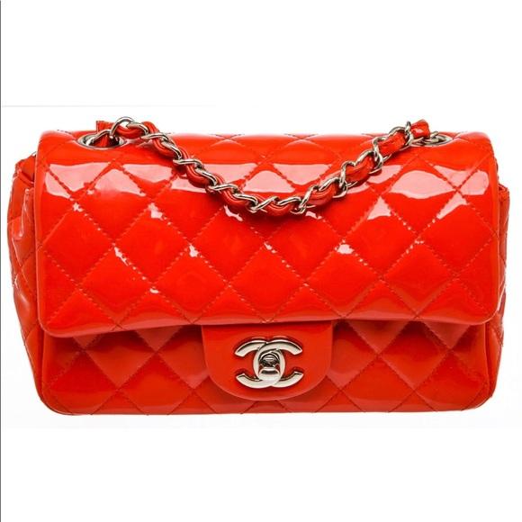 Chanel Patent Red Rectangular Mini